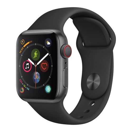 Умные часы Apple Watch Series 5 44mm GPS+LTE Space Gray Aluminum Case with Black Sport Band (MWW12)